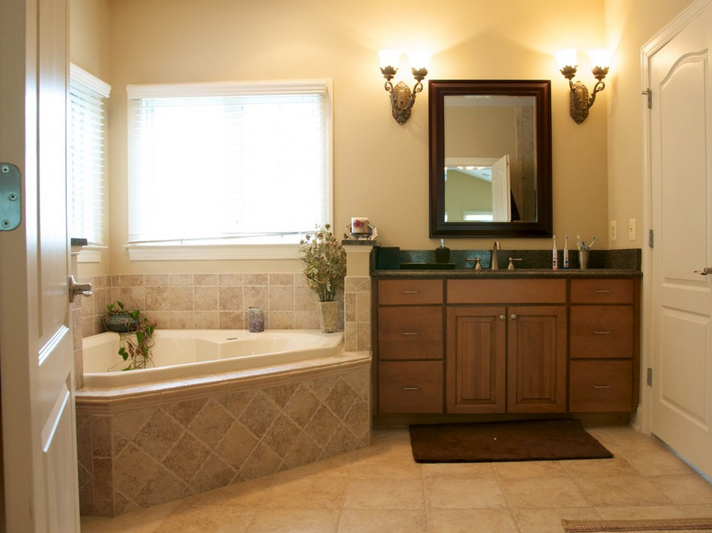 Spa tub in master bathroom remodel in Loudoun county VA