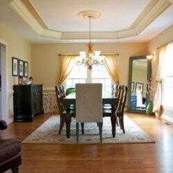 dinning room in custom home fairfax VA