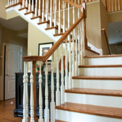 stair case in custom home fairfax VA