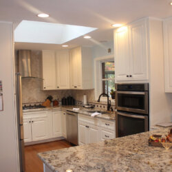 Double stacked oven in remodeled Falls Church kitchen