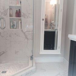 Remodeled bathroom in Arlington, VA