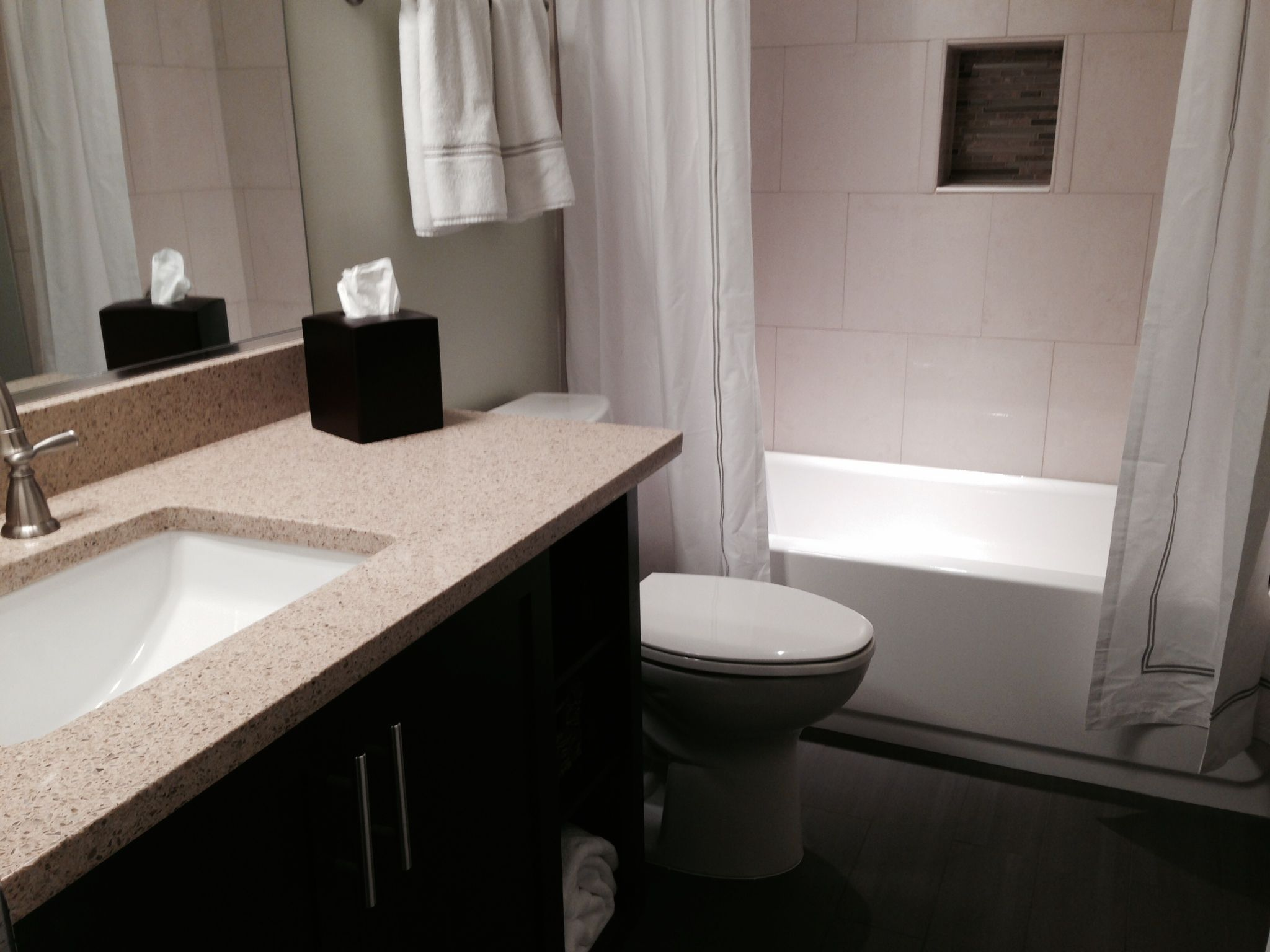 Beau Remodeled Bathroom In Fairfax, VA Finished Basement