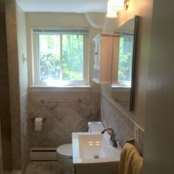 Remodeled bathroom in Falls Church, Virginia