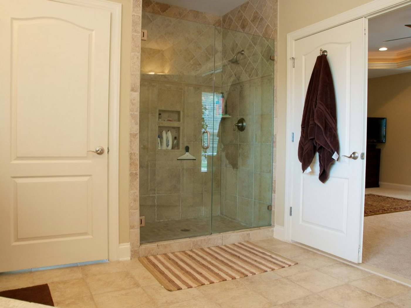 Shower in master bathroom remodel in Loudoun county VA