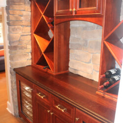 Basement remodel with wine storage in Virginia