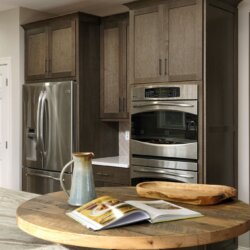 Leesburg kitchen with built in oven and refrigerator