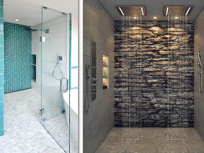 Barrier-free universal design showers