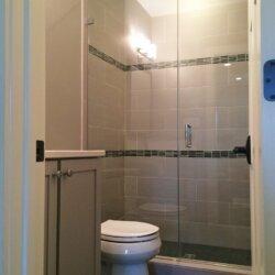 Basement bathroom shower