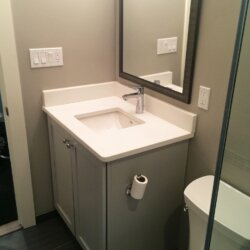 Bathroom in the newly remodeled basement