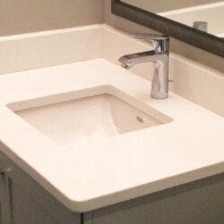 New sink for basement bathroom