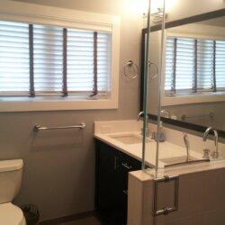 Remodeled gray bathroom