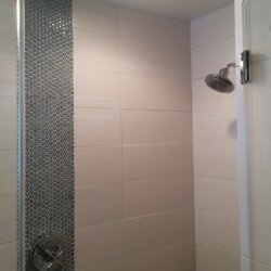 Sleek modern shower