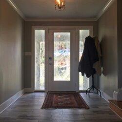 Front door with decorative window