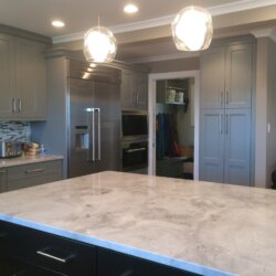 Light gray stone kitchen counter
