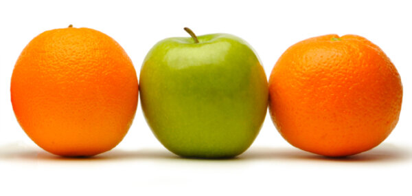 photo: apples and oranges