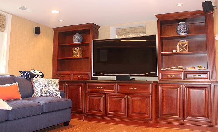 Photo: finished basement remodeling
