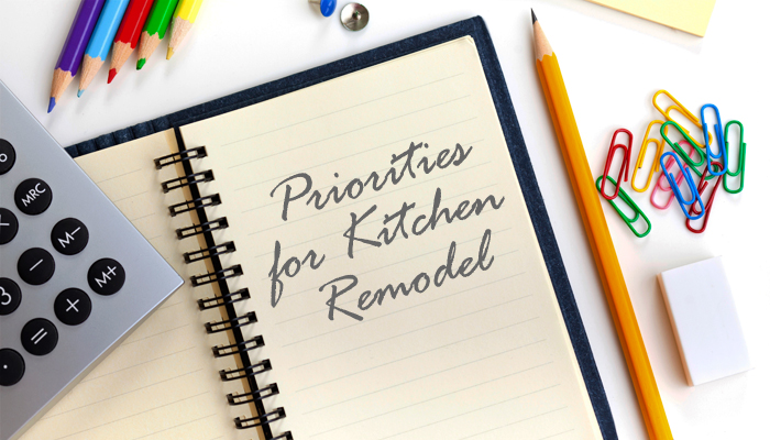 Photo: list for remodeling priorities