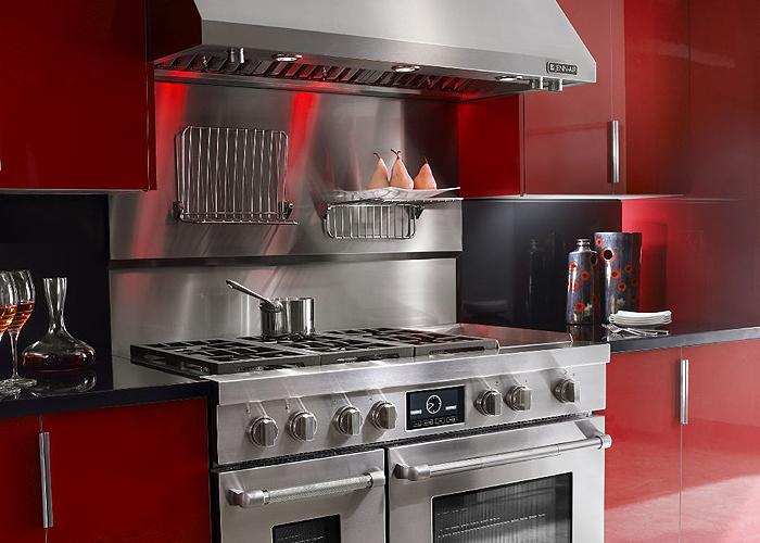 Commercial style kitchen photo courtesy Jenn-Air