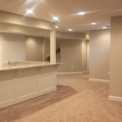 finished basement with wet bar in Ashburn, VA