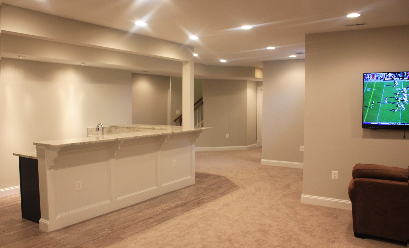 Photo Of A Wet Bar In A Finished Basement Remodel