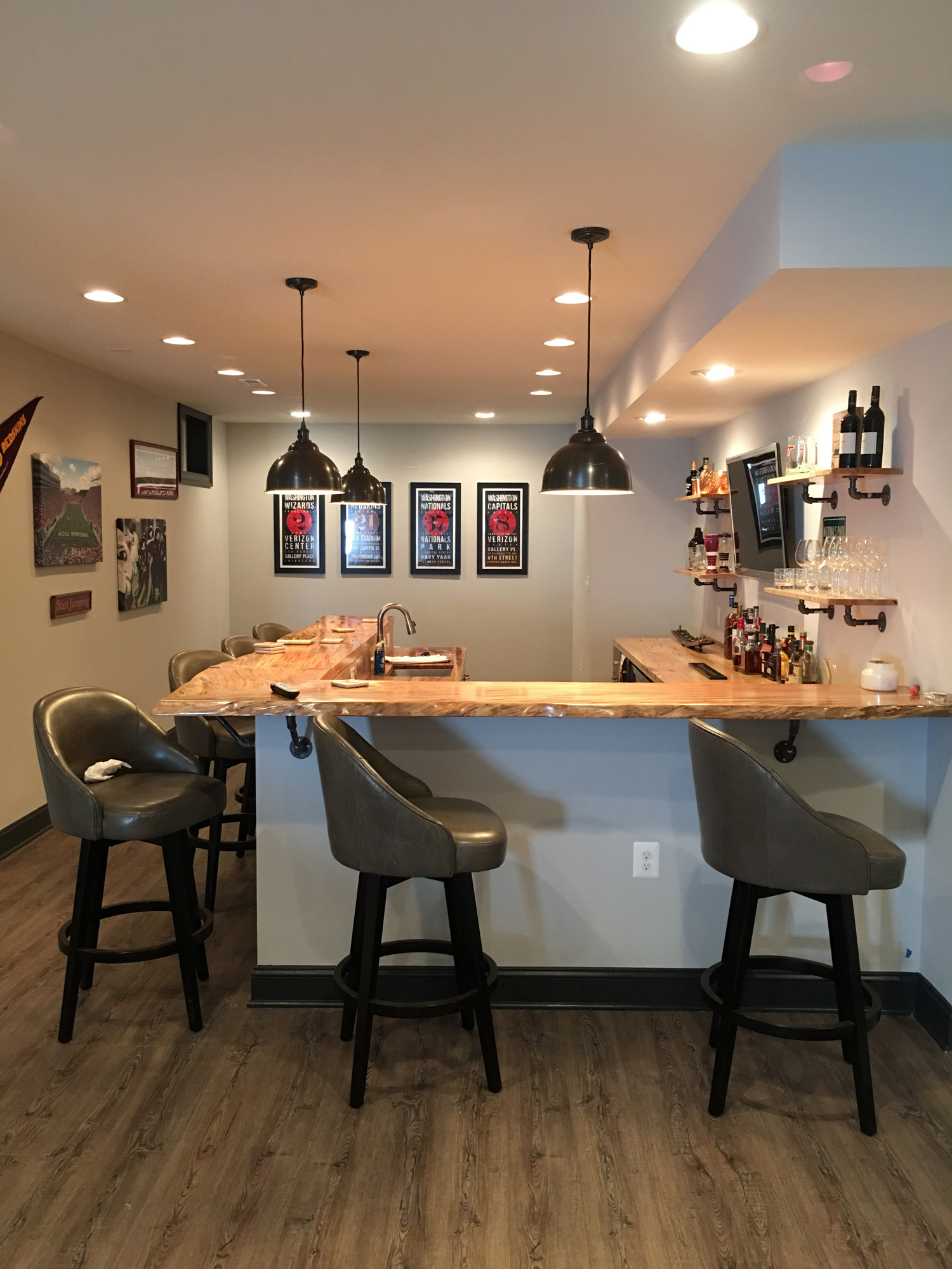 Basement Bar Home Remodeling Contractor Northern