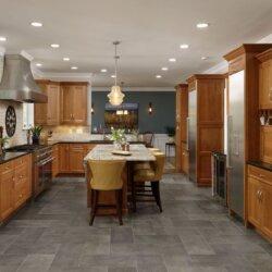 Wide shot of remodeled kitchen