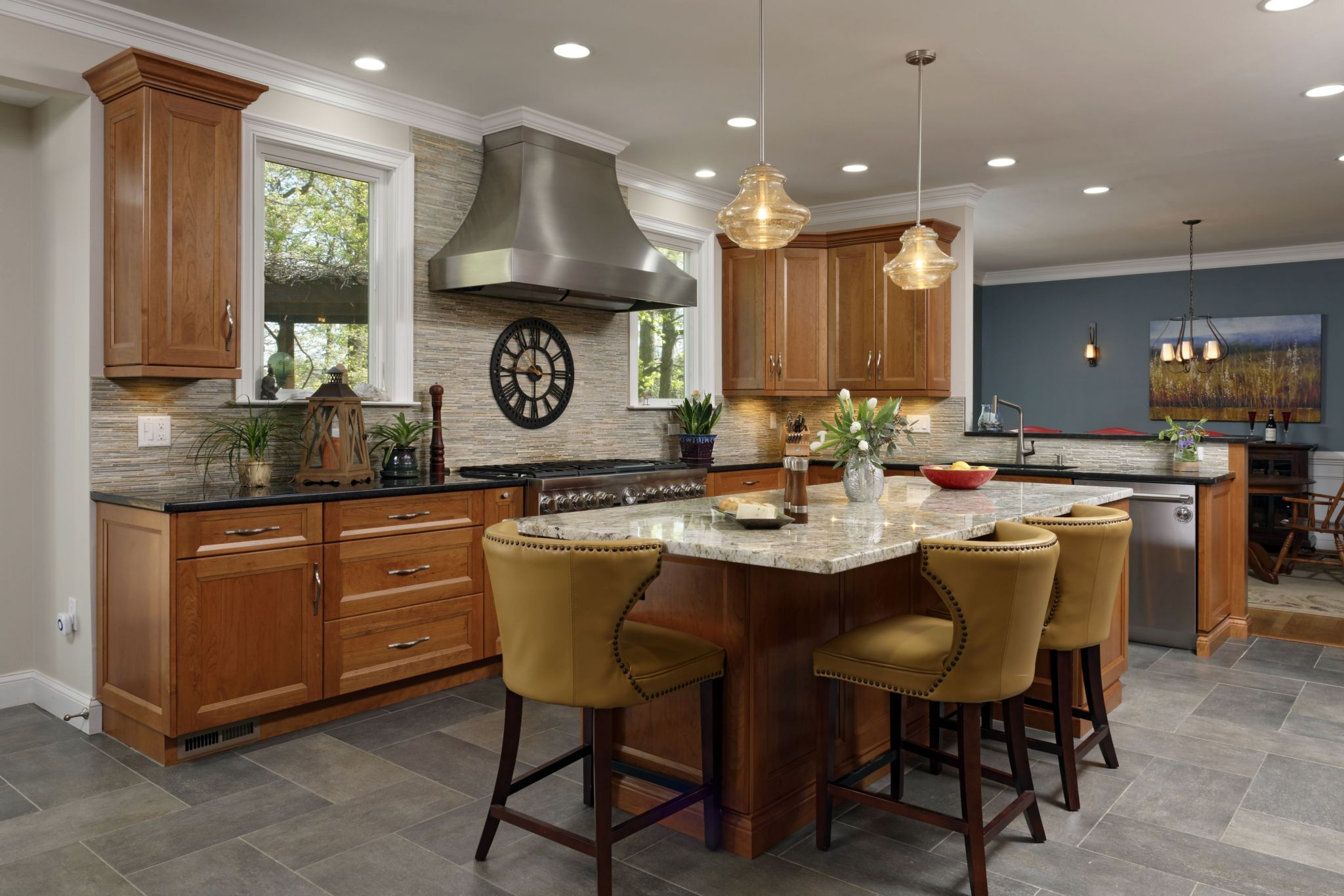 Stone Floor Kitchen | Metro Building & Remodeling Group | No. VA, DC, MD