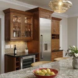Kitchen island and wine cooler