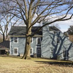 Exterior side shot of remodeled home