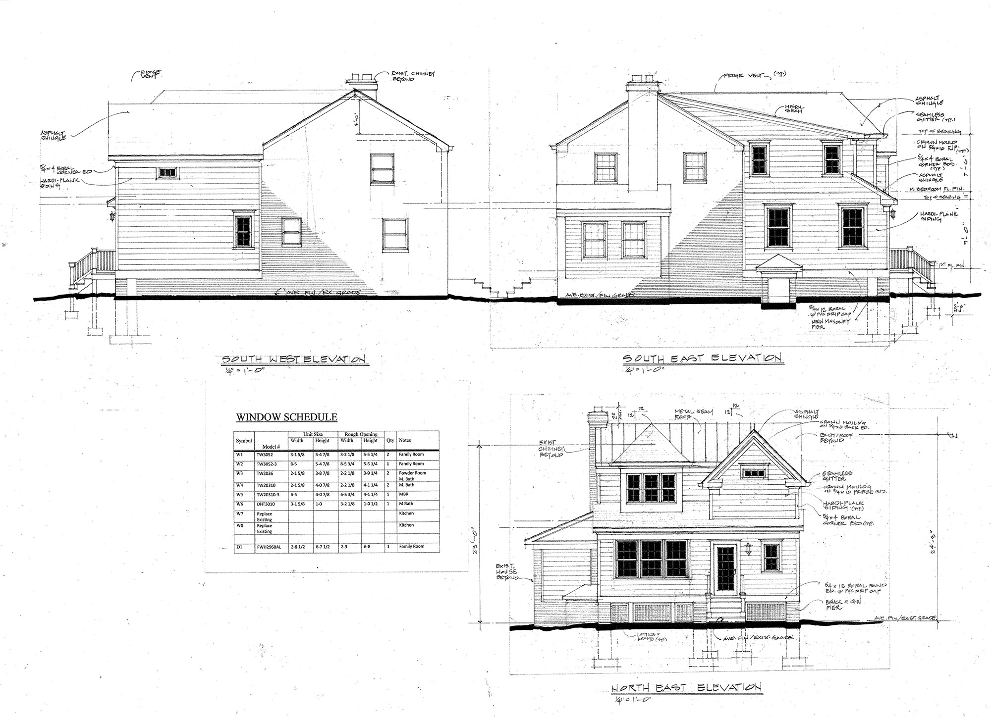 Elevation drawings for Alexandria home addition