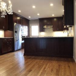 Remodeled Kitchen Dark Cabinets 12