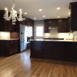 A Remodeled Kitchen Dark Cabinets