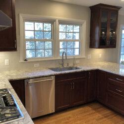 Remodeled Kitchen Dark Cabinets 9