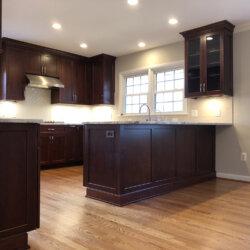Remodeled Kitchen Dark Cabinets 8