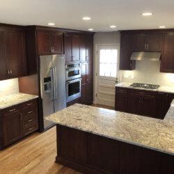 Remodeled Kitchen Dark Cabinets 14