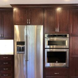 Remodeled Kitchen Dark Cabinets 13