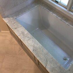 Bathtub in remodeled master bathroom