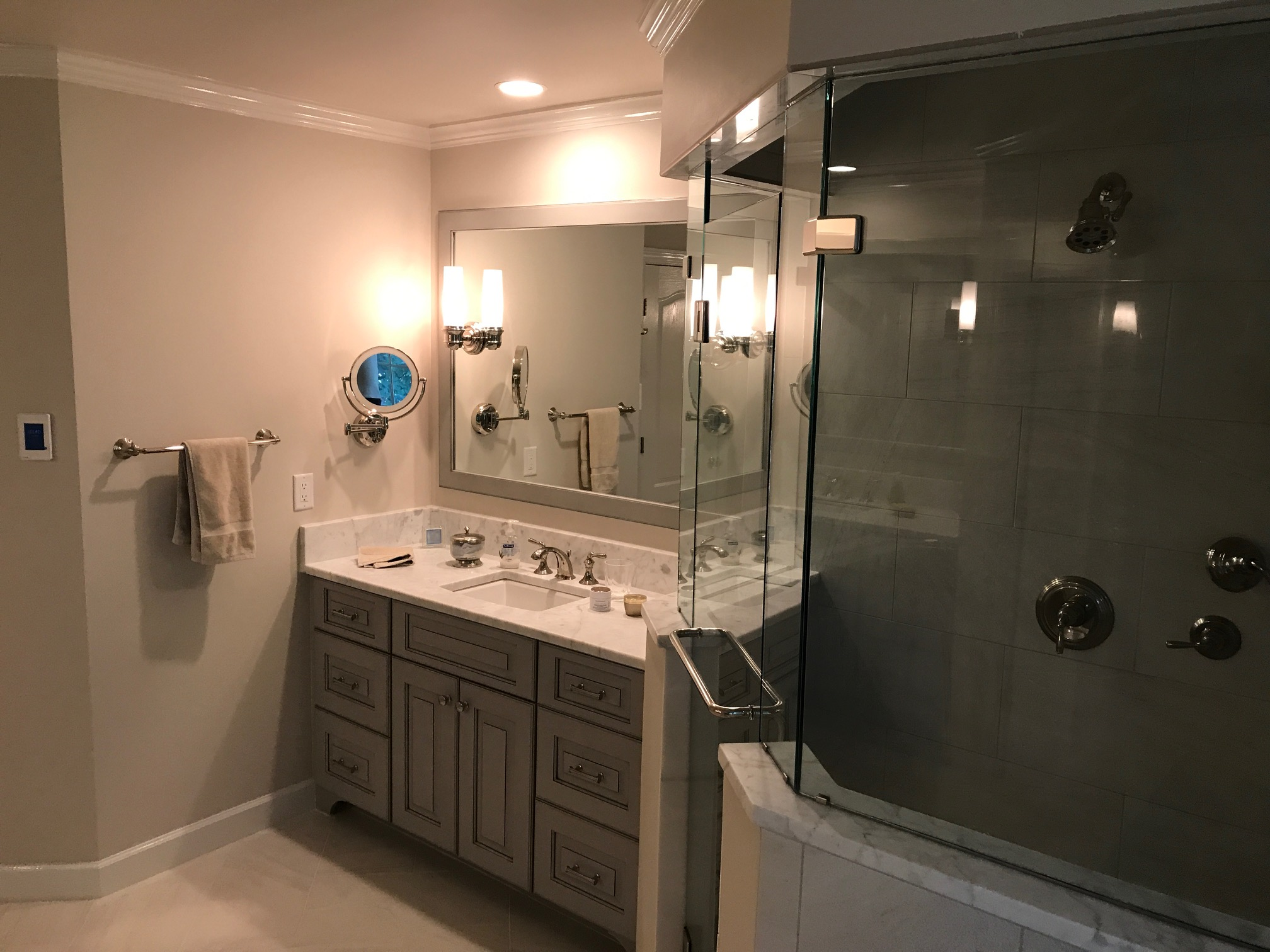 Master Bathroom Corner Showers. Roman Shower Stalls For Your Master ...