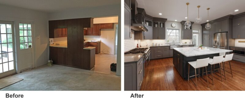 Remodeling before and after photos