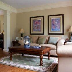 custom home fairfax VA living room