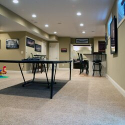 finished basement in custom home fairfax VA
