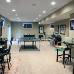finished basement in custom home fairfax VA