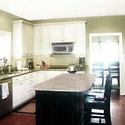 Kitchen in custom home in Fairfax