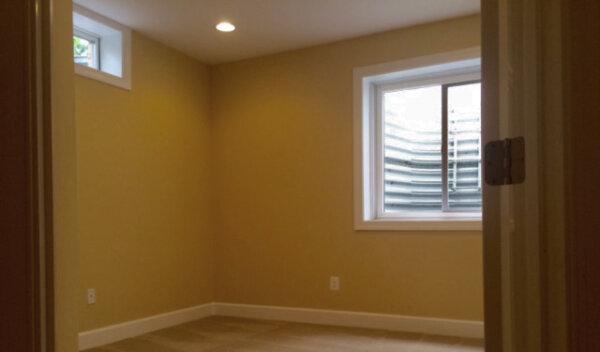 Egress windows added when finishing a basement