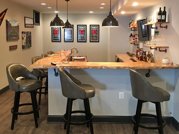 Lighting in a finished basement