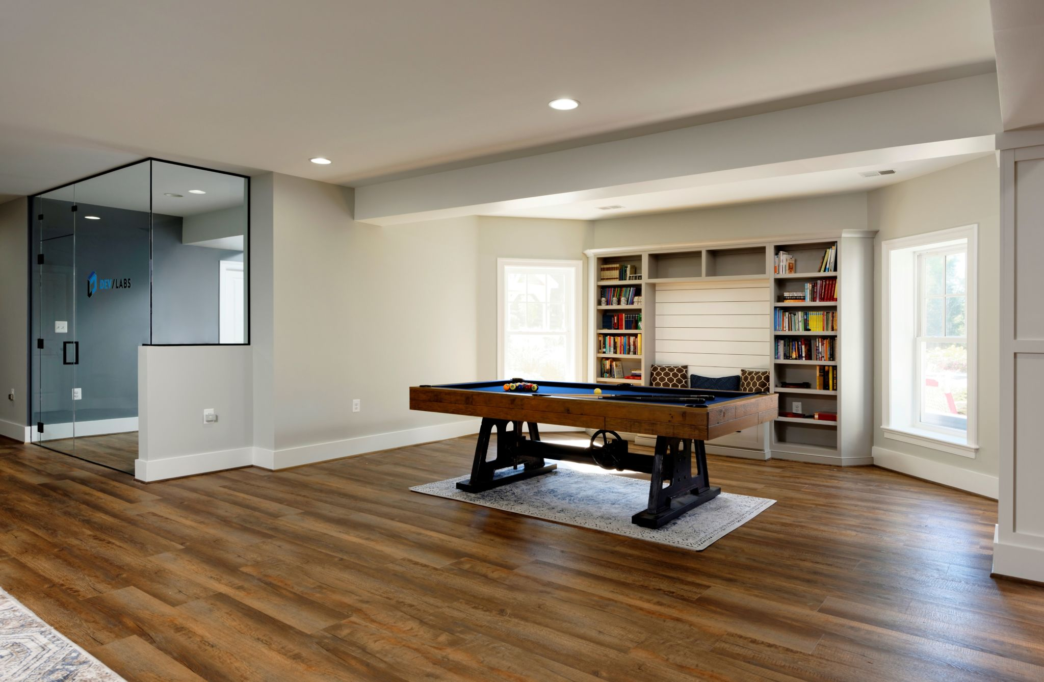 Photos of finished basement with creative lab in ashburn - How to finish a basement ...