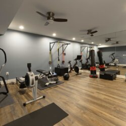 exercise room in Finished Basement Ashburn VA