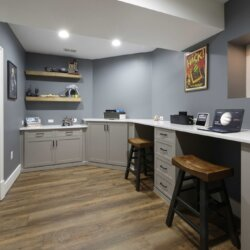 home office in Finished Basement Ashburn VA