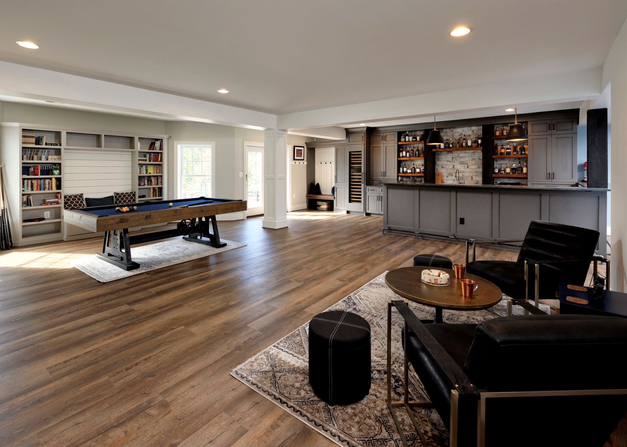 luxury finished basement remodel in ashburn va