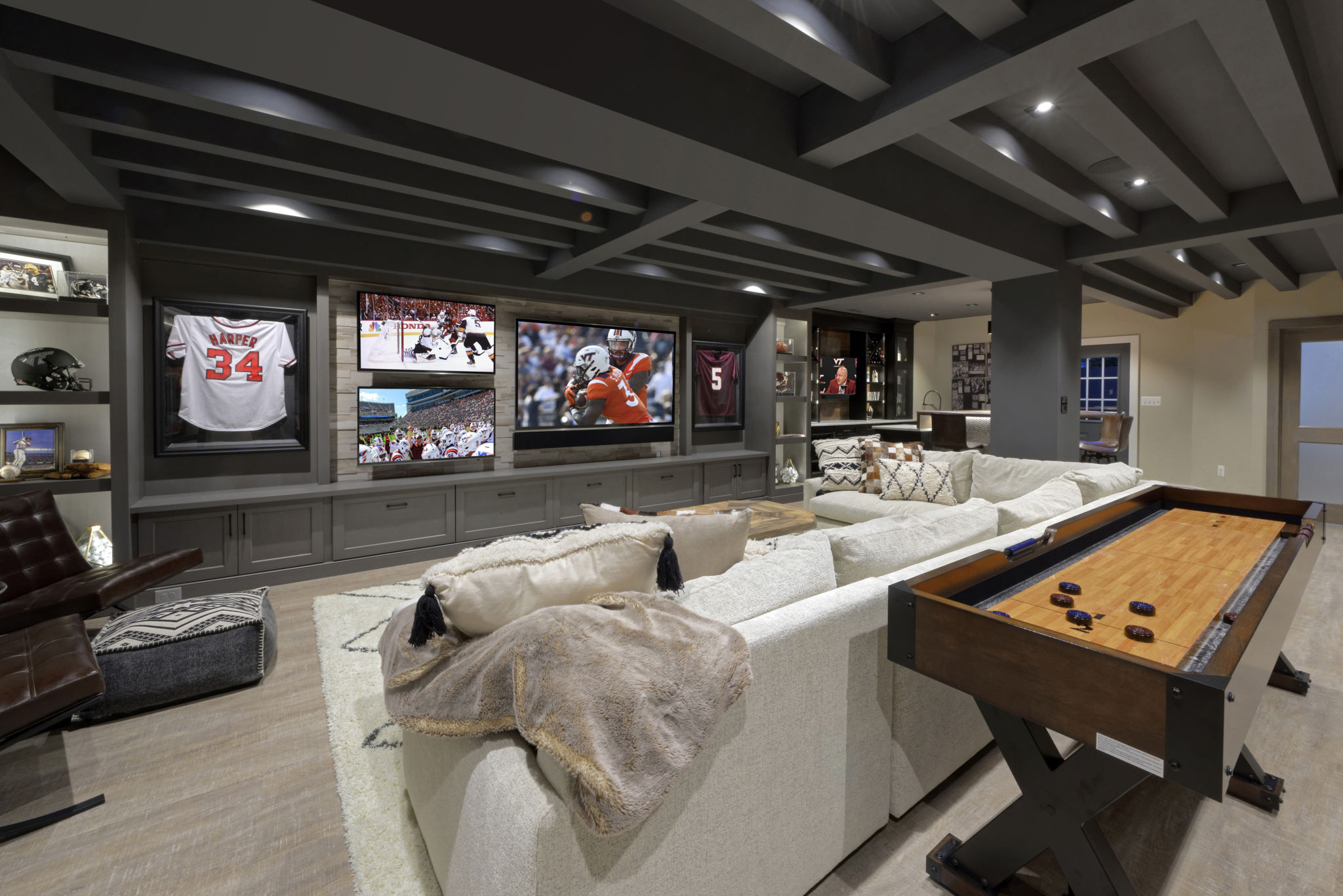 Super Finished Basement for the Big Game | Metro Building & Remodeling